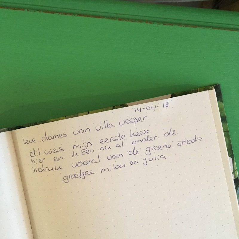 Gastenboek VillaVesper Brandenvoort Helmond